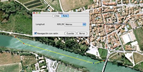 Trajecte de natació - Triatló Popular de Sant Pere Pescador