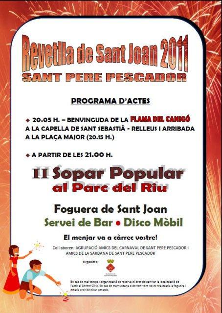 Revetlla de Sant Joan 2011 Sant Pere Pescador